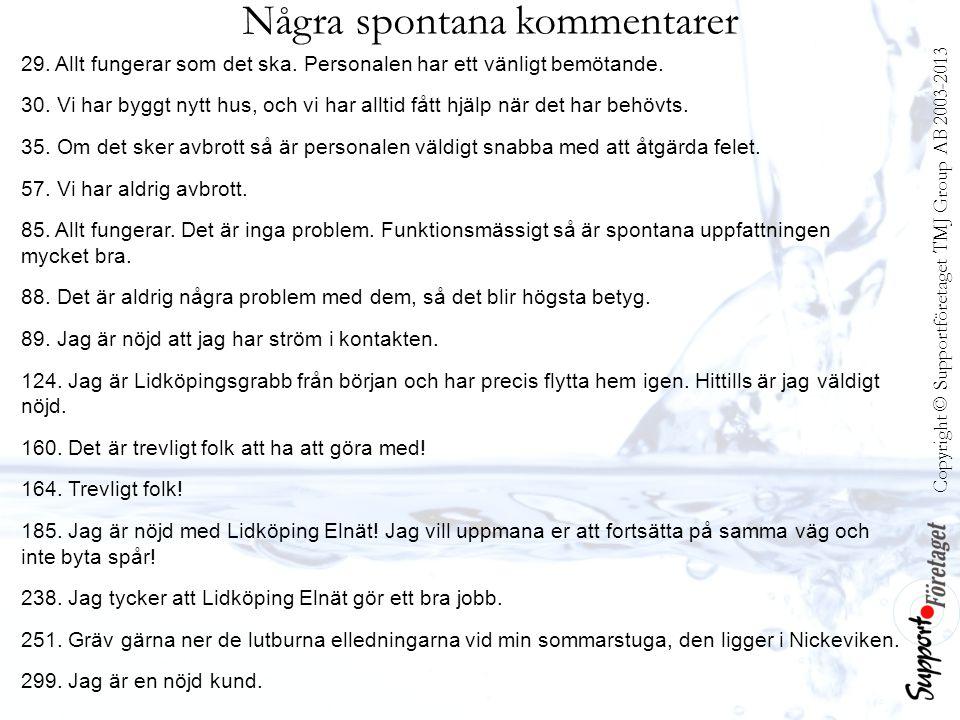 Copyright © Supportföretaget TMJ Group AB 2003-2013 Några spontana kommentarer 29.