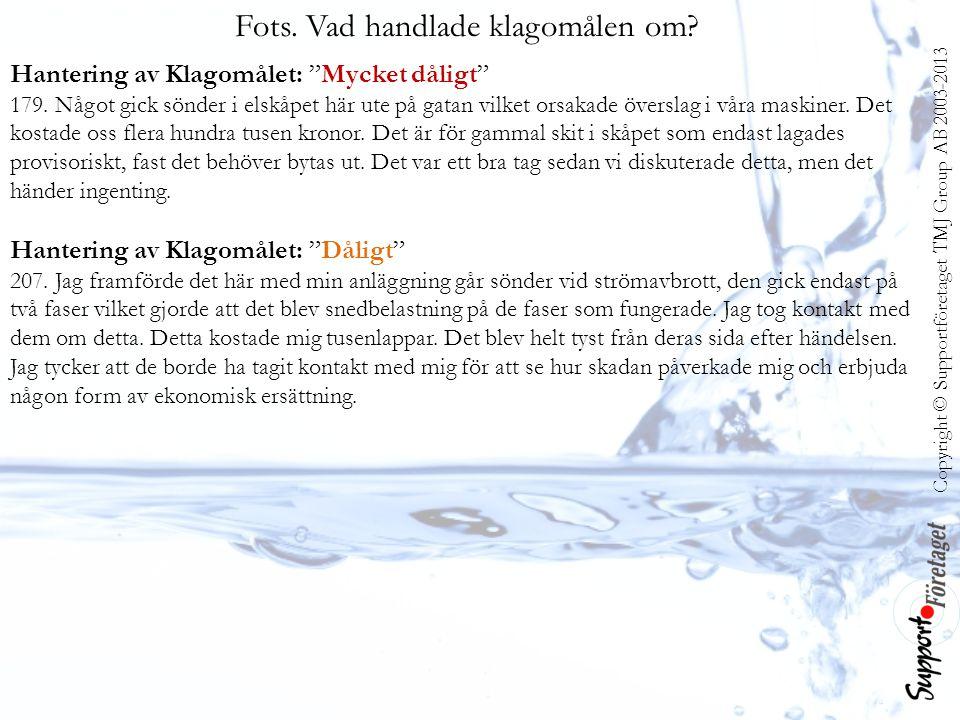 Copyright © Supportföretaget TMJ Group AB 2003-2013 Fots.
