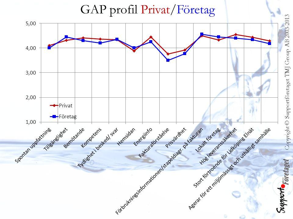 Copyright © Supportföretaget TMJ Group AB 2003-2013 GAP profil Privat/Företag
