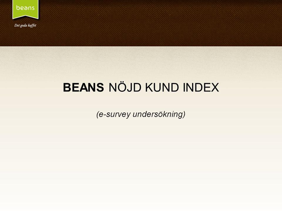 BEANS NÖJD KUND INDEX (e-survey undersökning)
