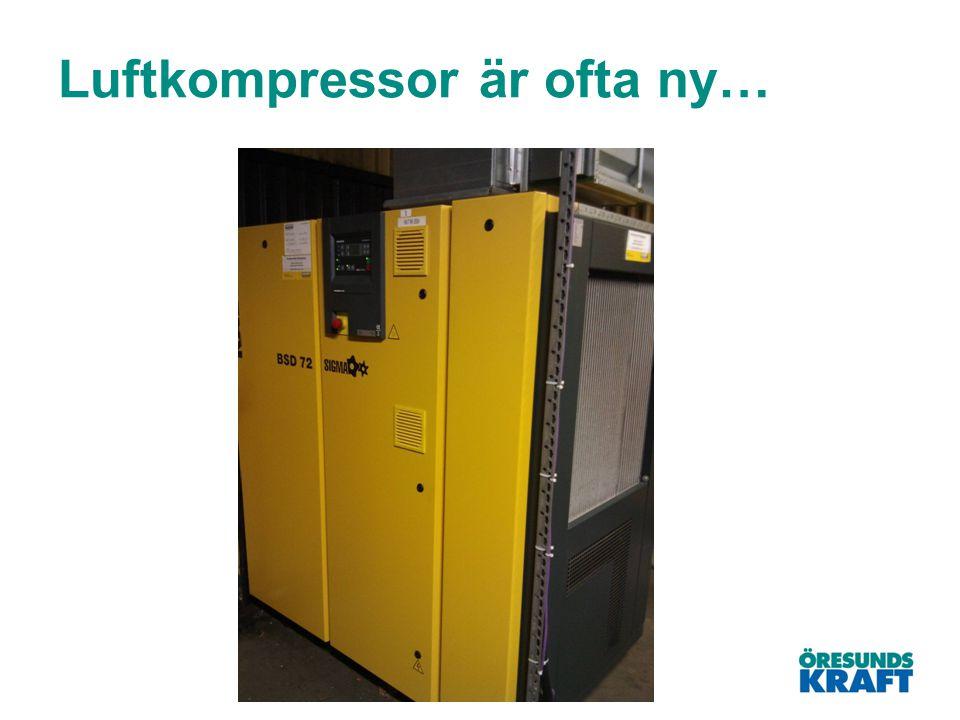 Luftkompressor är ofta ny…