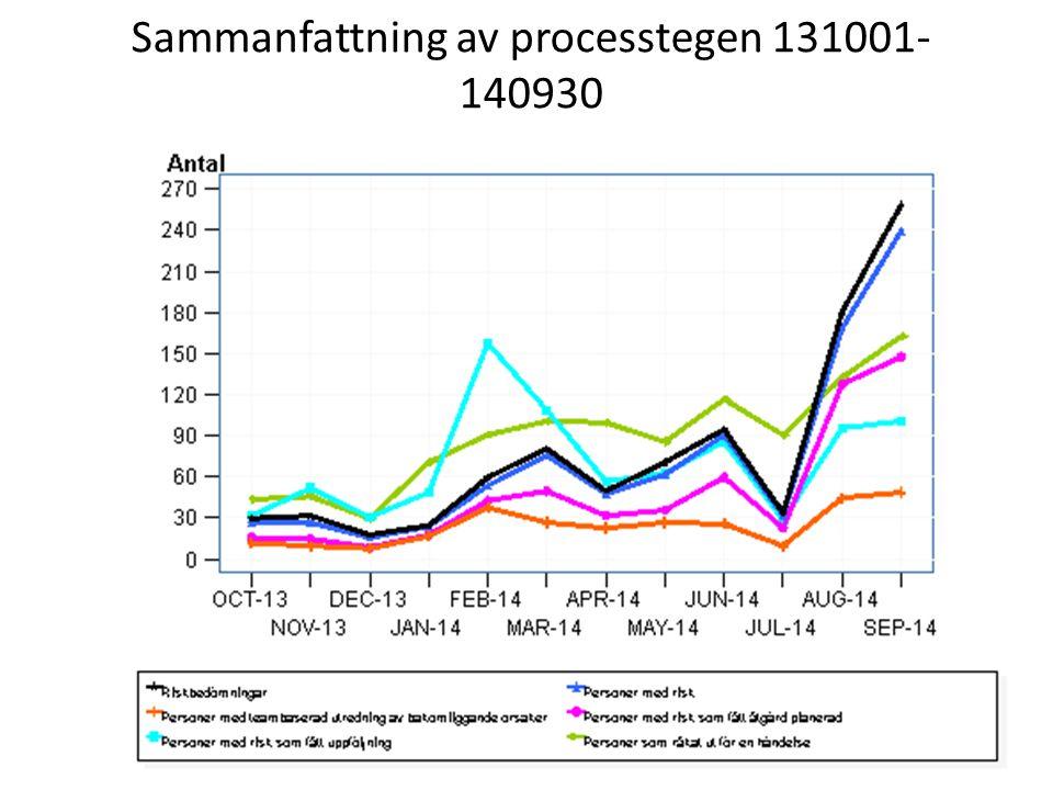 Sammanfattning av processtegen 131001- 140930