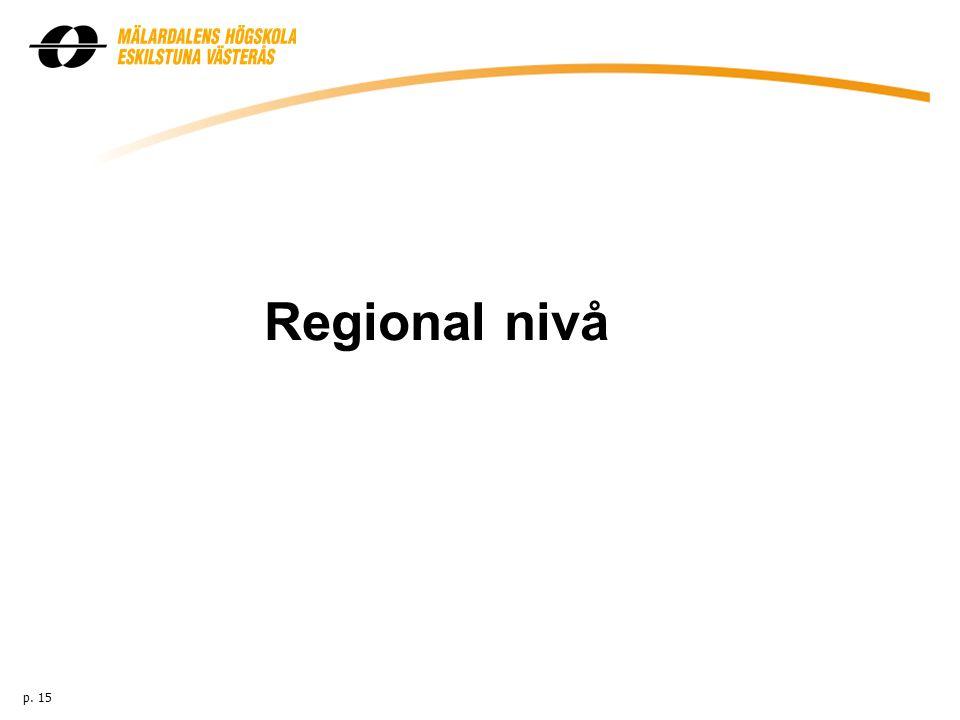 Regional nivå p. 15
