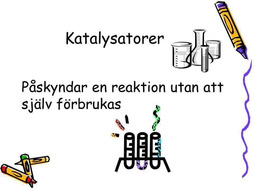 Estrar Luktar oftast gott Alkohol + syra → ester + vatten