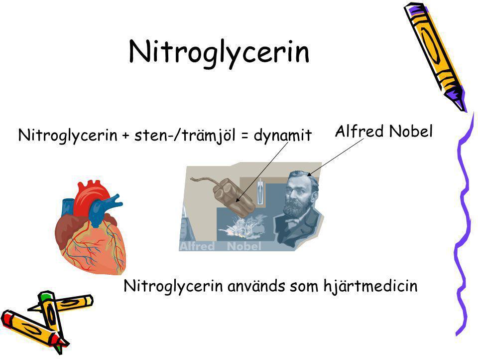 Teknisk esteranvändning Salpetersyra + glycerol = nitroglycerin (ester) Nagellack och snabblim innehåller estrar