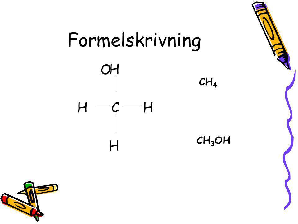 Alkoholernas namn Stamkolvätet + ändelsen -ol namnet Metan → metanol Etan → etanol Propan → propanol Butan → butanol und so weiter