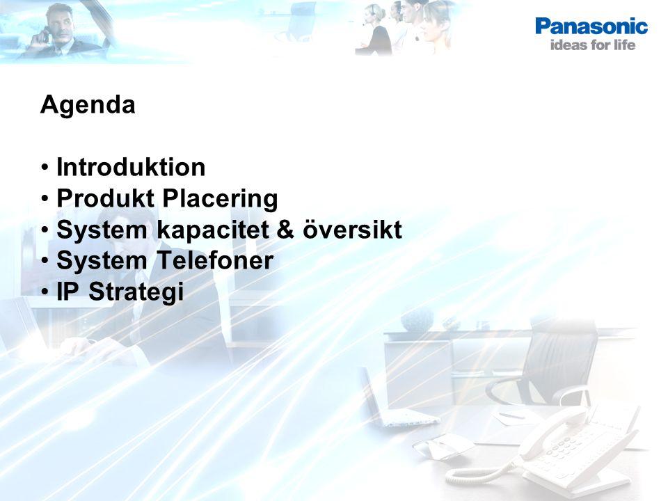 Agenda Introduktion Produkt Placering System kapacitet & översikt System Telefoner IP Strategi