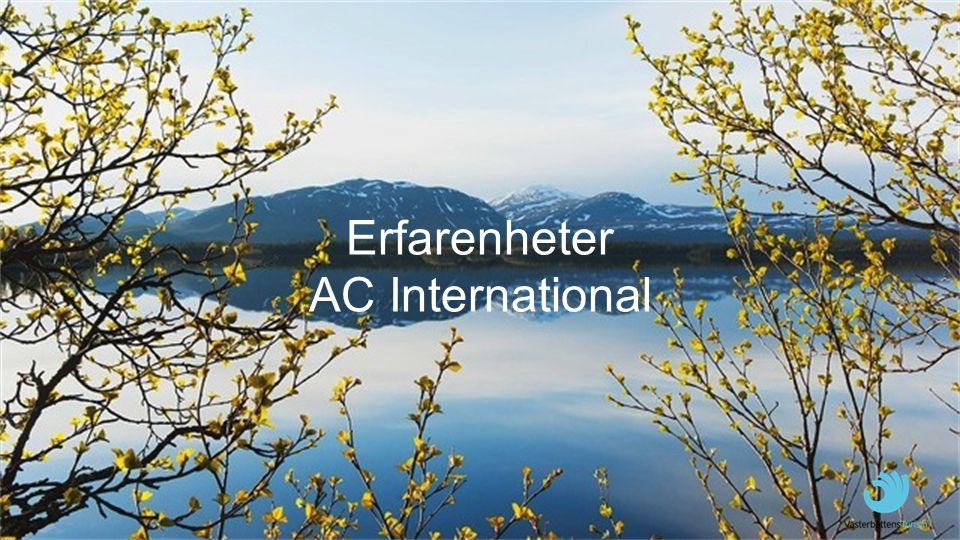Erfarenheter AC International