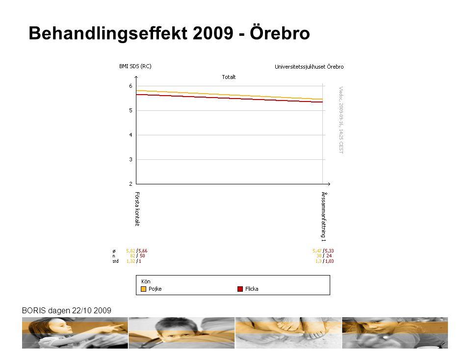BORIS dagen 22/10 2009 Behandlingseffekt 2009 - Örebro