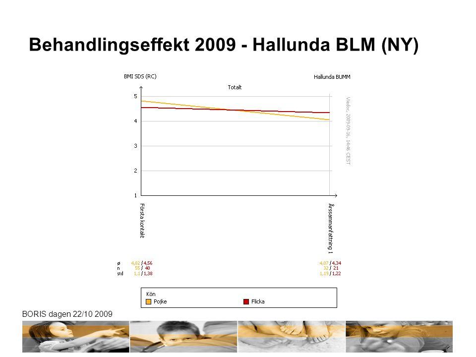 BORIS dagen 22/10 2009 Behandlingseffekt 2009 - Hallunda BLM (NY)