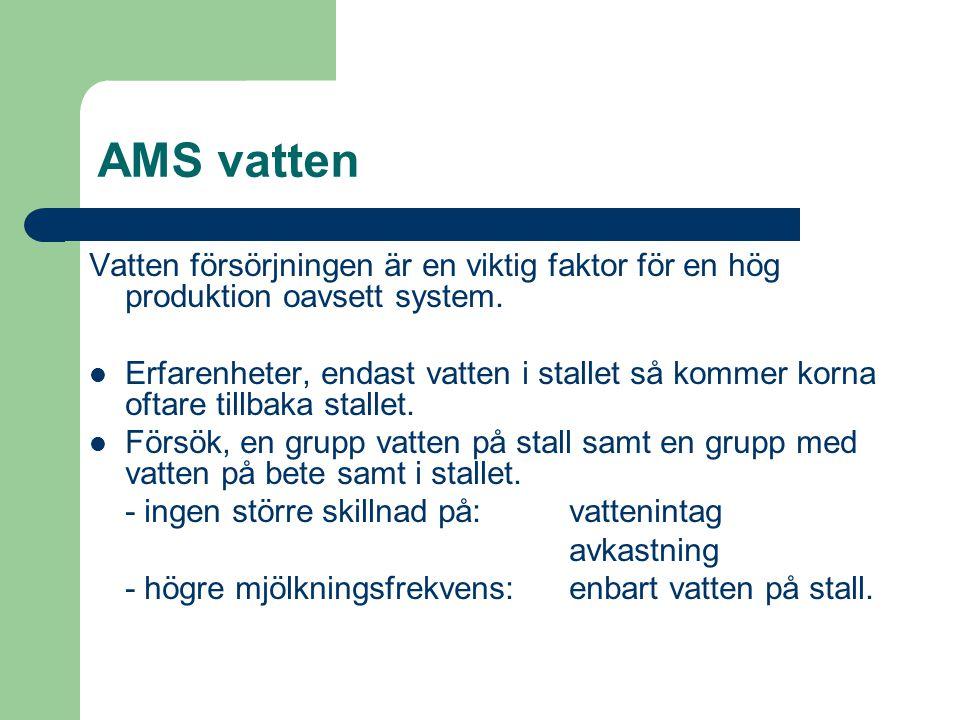 AMS vatten Vatten försörjningen är en viktig faktor för en hög produktion oavsett system. Erfarenheter, endast vatten i stallet så kommer korna oftare