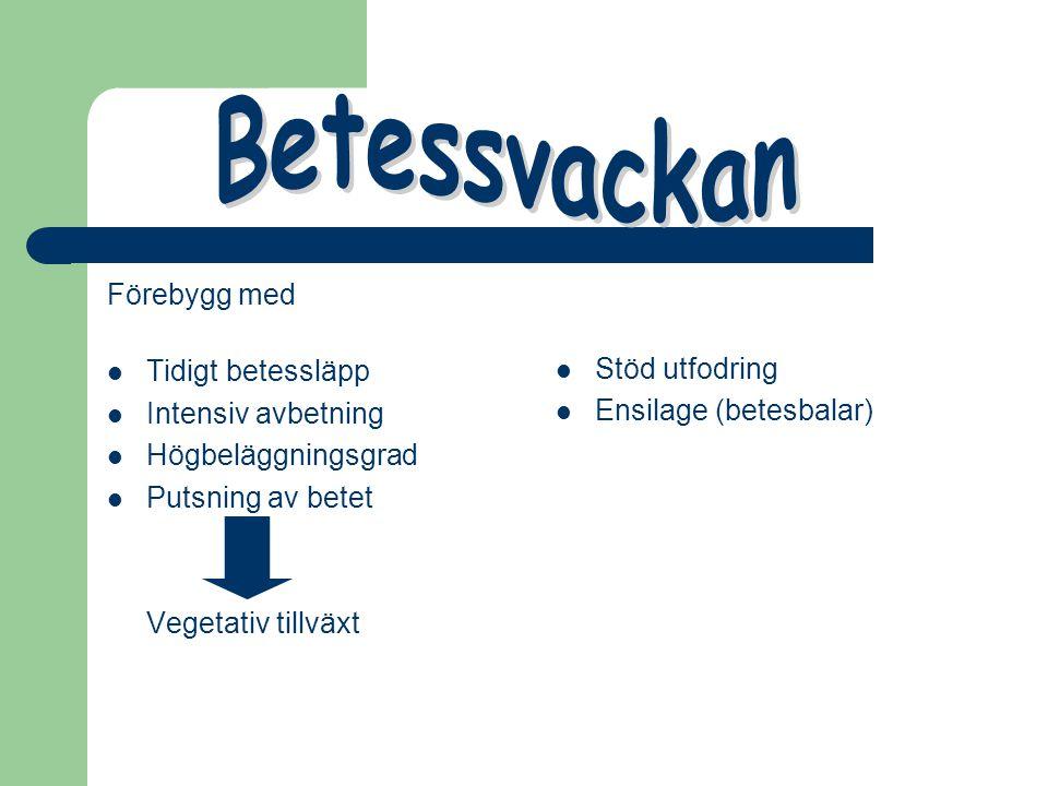 Förebygg med Tidigt betessläpp Intensiv avbetning Högbeläggningsgrad Putsning av betet Vegetativ tillväxt Stöd utfodring Ensilage (betesbalar)