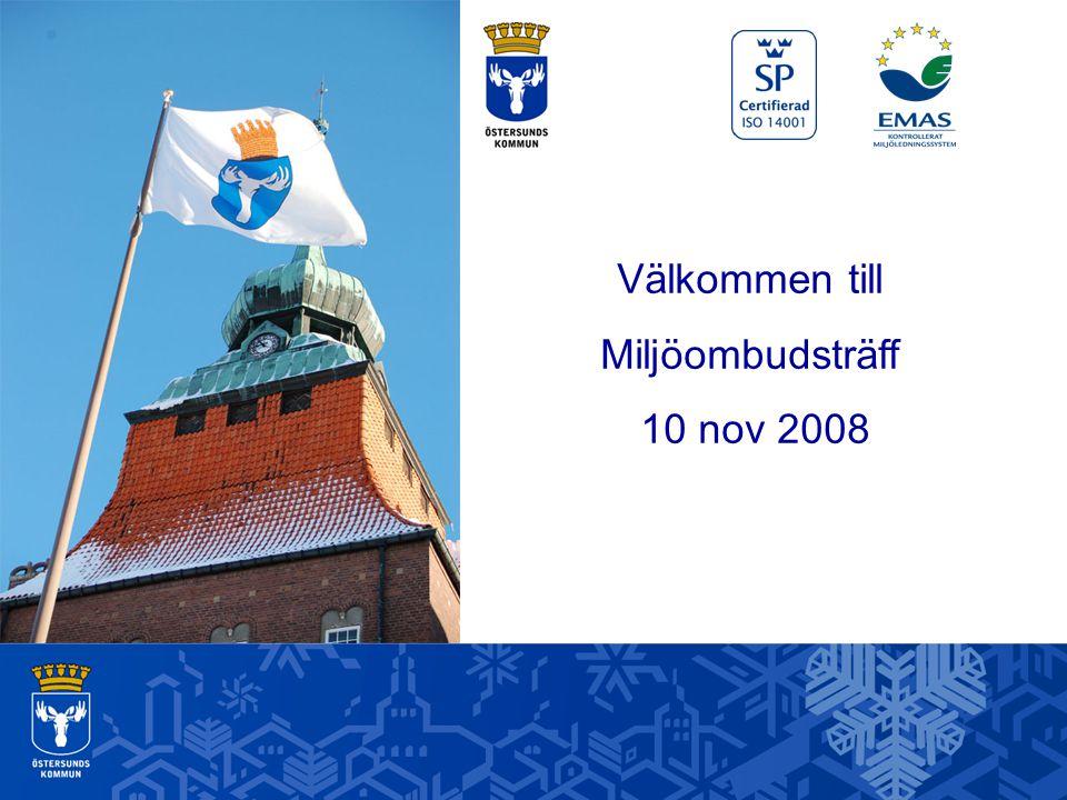 Välkommen till Miljöombudsträff 10 nov 2008