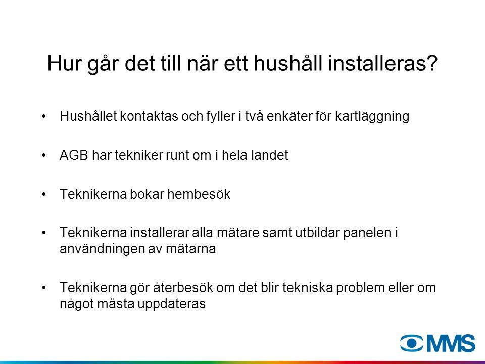 Hur går det till när ett hushåll installeras.