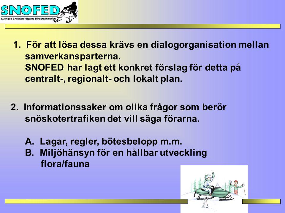 1.För att lösa dessa krävs en dialogorganisation mellan samverkansparterna.