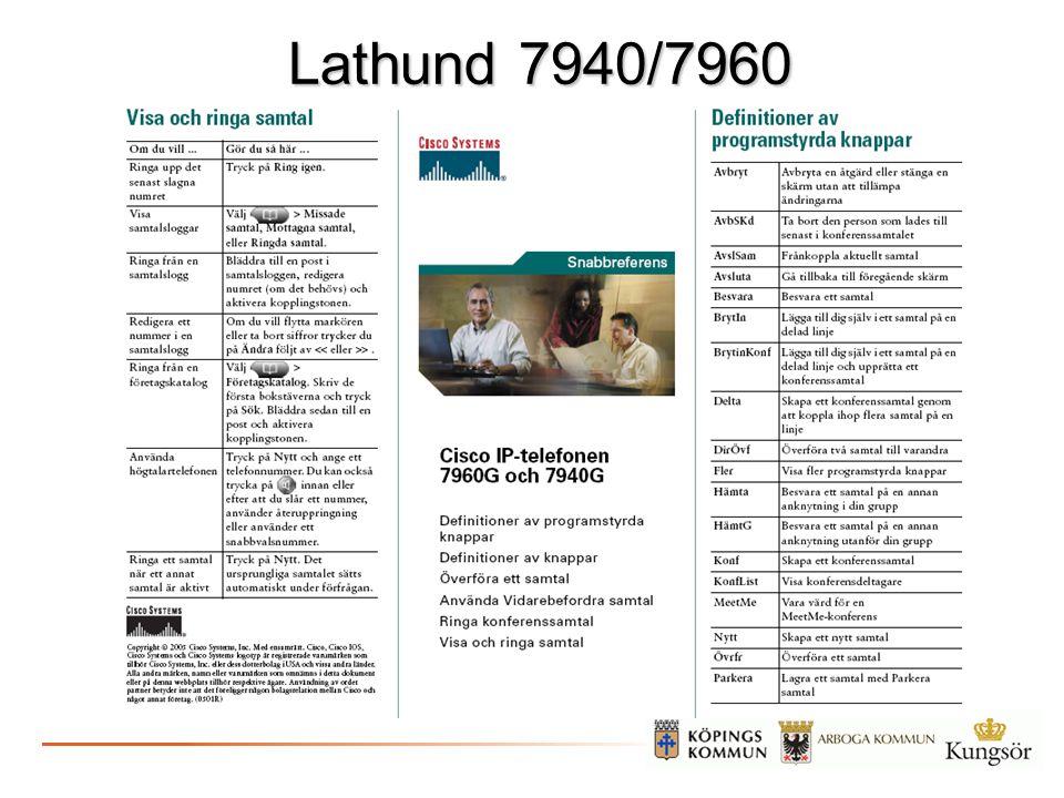 Lathund 7940/7960