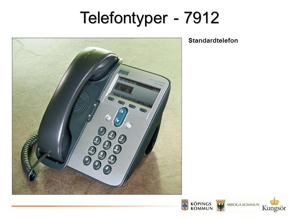 Telefontyper - 7912 Standardtelefon