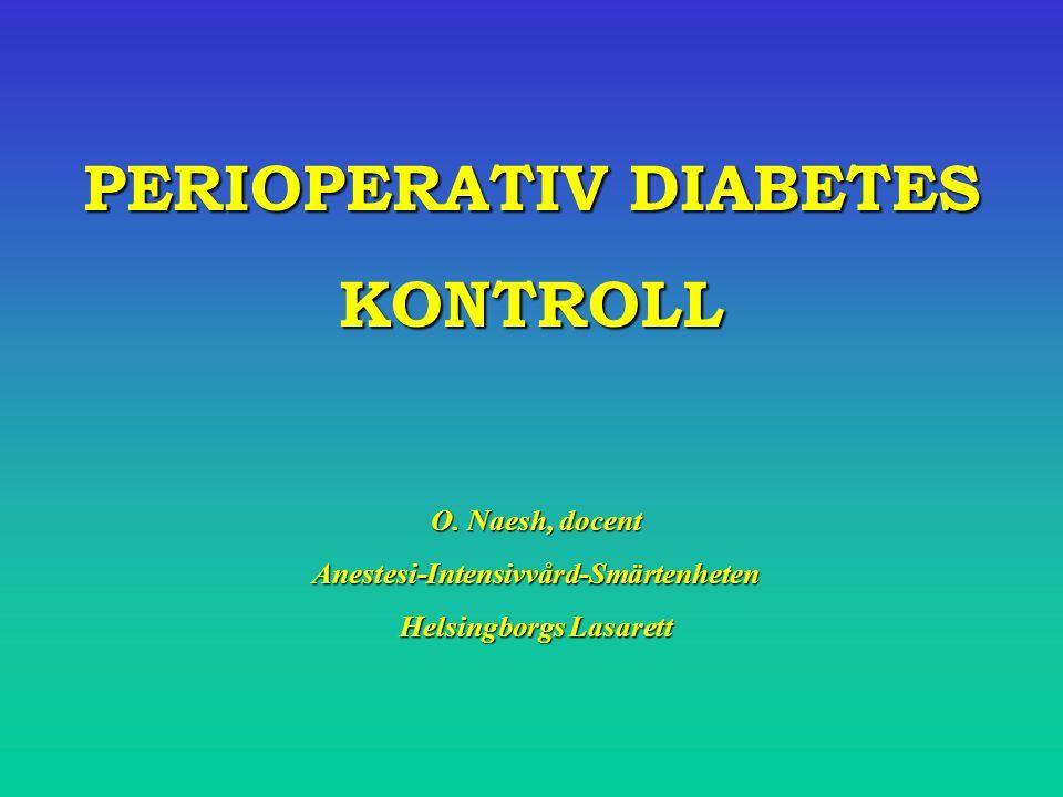 B2 : Större Kirurgi (inneliggande): Ordinarie doser långverkande insulin (glargin/detemir (Lantus /Levemir/ Insulatard) kvällen före operation.