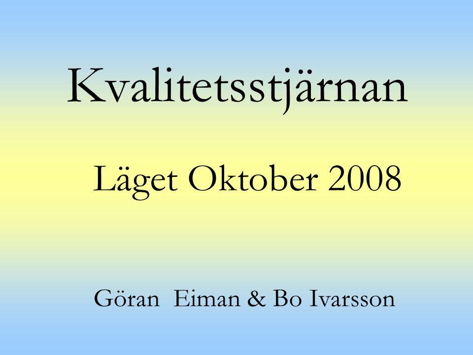 Kvalitetsstjärnan Läget Oktober 2008 Göran Eiman & Bo Ivarsson