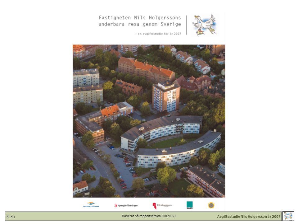 Avgiftsstudie Nils Holgersson år 2007 Bild 42 Nils Holgersson 1996-2007 Totalkostnad [kr/kvm inkl moms] - Kommuner i urval