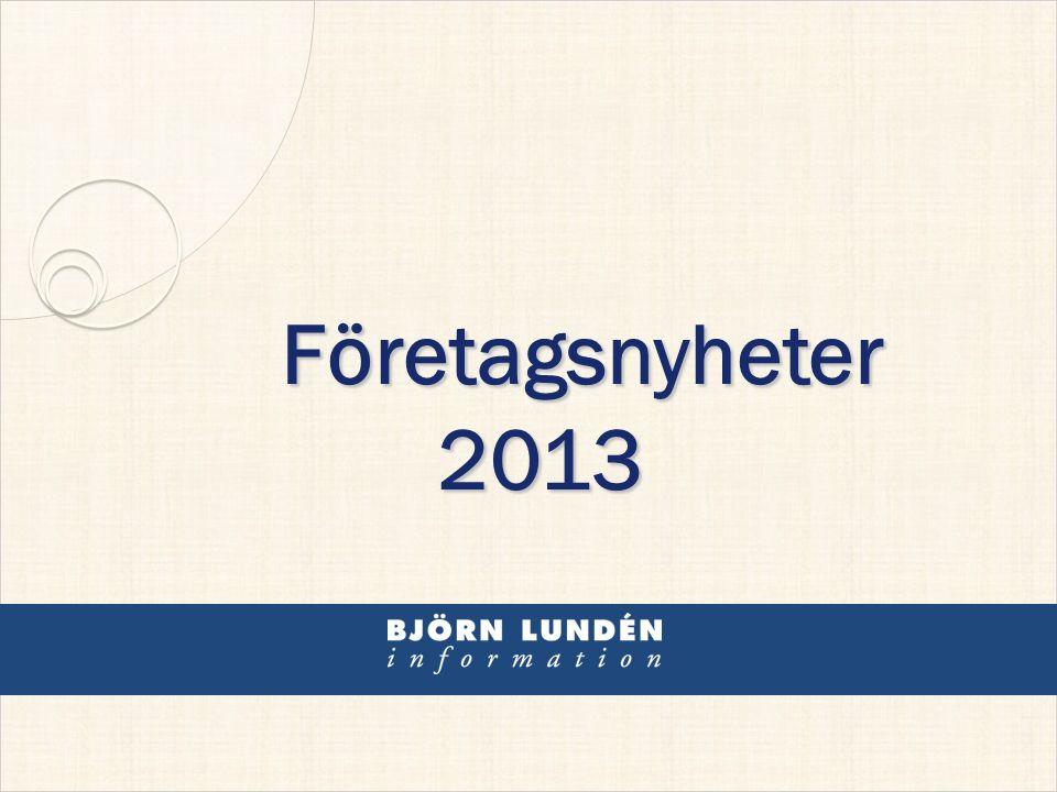 Företagsnyheter 2013