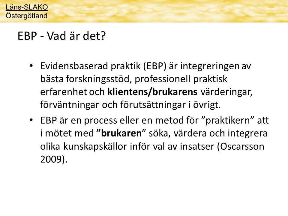 EBP - Vad är det.