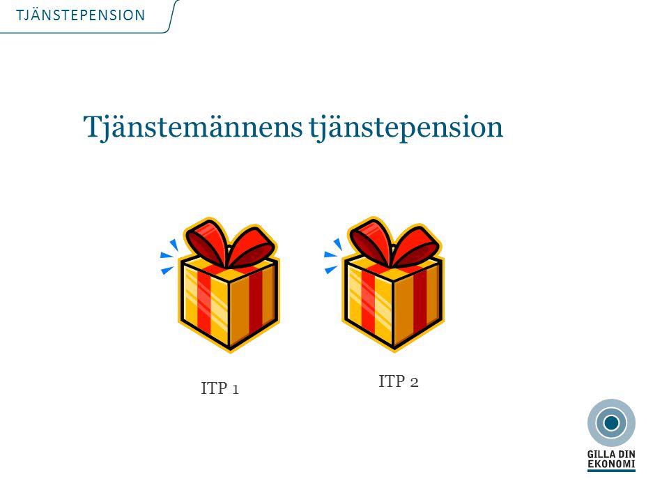 TJÄNSTEPENSION Tjänstemännens tjänstepension ITP 1 ITP 2