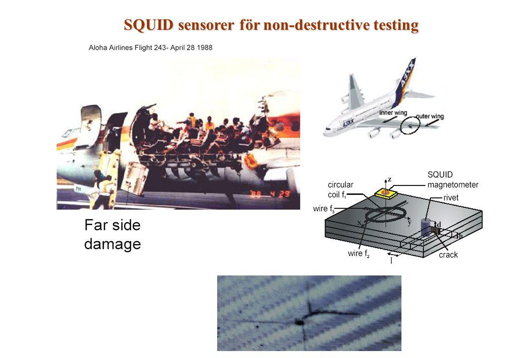 SQUID sensorer för non-destructive testing