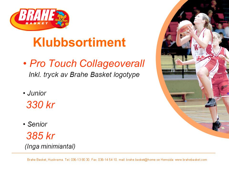 Klubbsortiment Pro Touch Collageoverall Inkl.