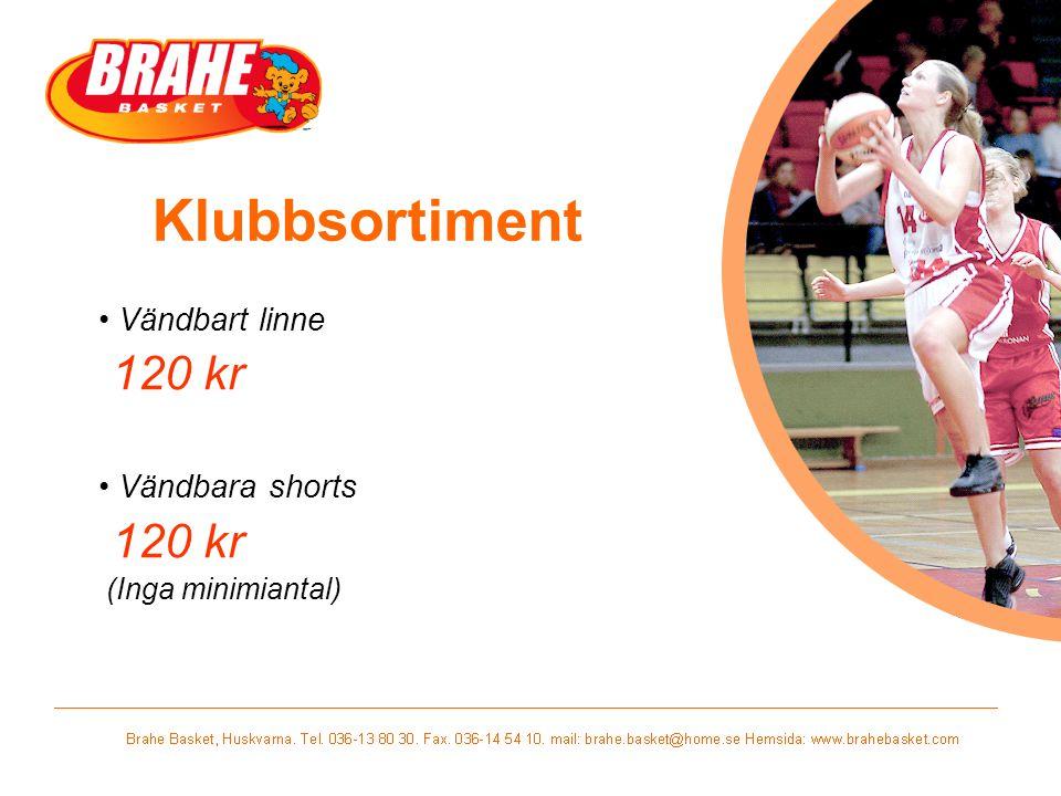 Klubbsortiment Vändbart linne 120 kr Vändbara shorts 120 kr (Inga minimiantal)