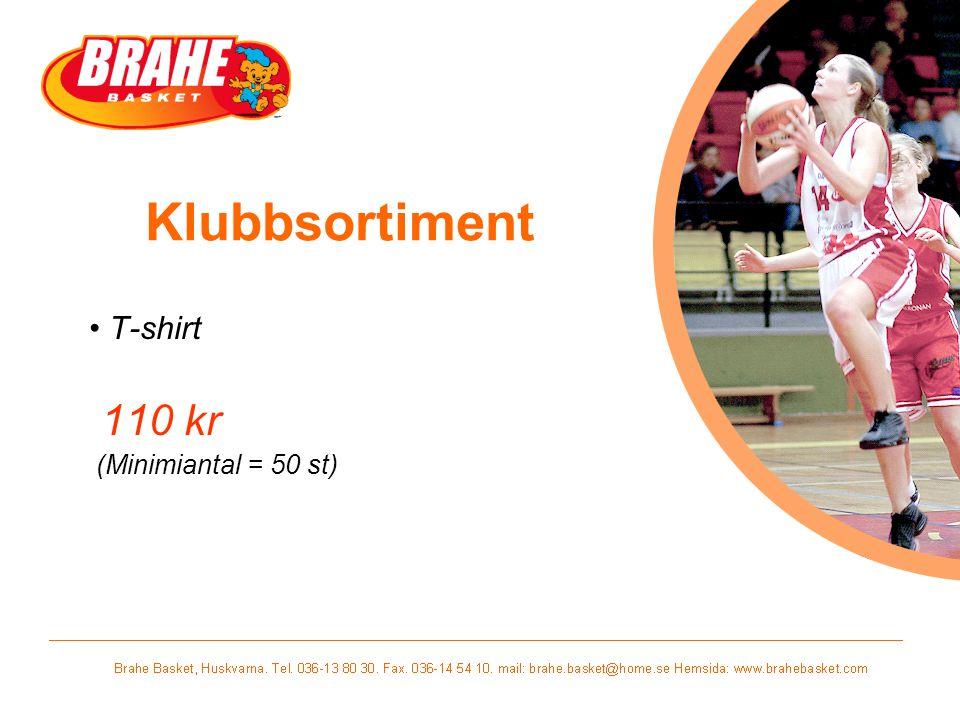 Klubbsortiment T-shirt 110 kr (Minimiantal = 50 st)