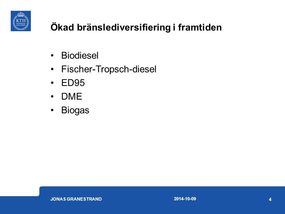 Hur kan bränslesubstitution påverka oxidationskatalysatorn.