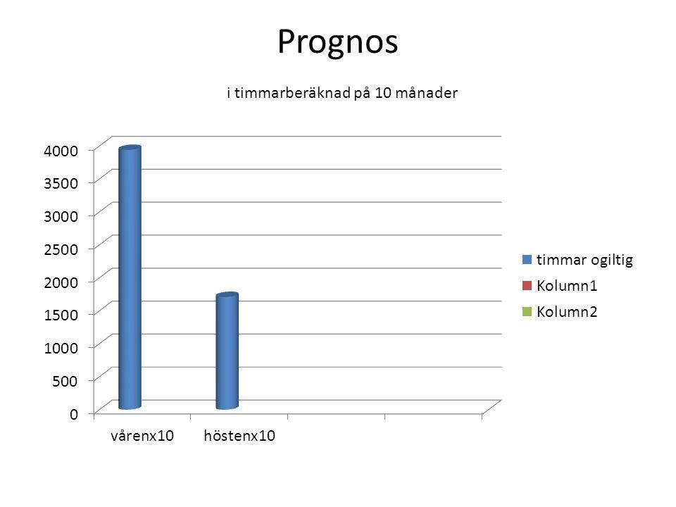 Prognos i timmarberäknad på 10 månader