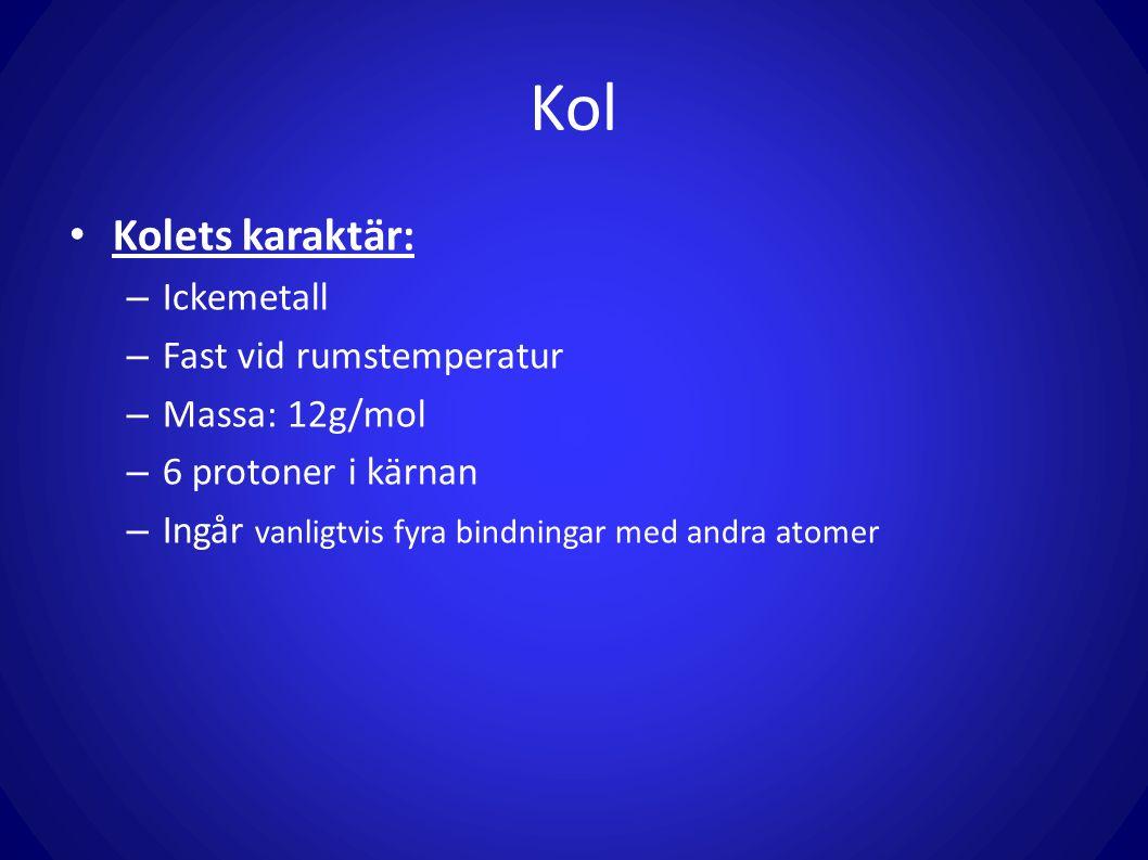 Kolväten Viktiga Organiska ämnen Kolväten är en grupp ämnen som bara består av kol- och väteatomer.