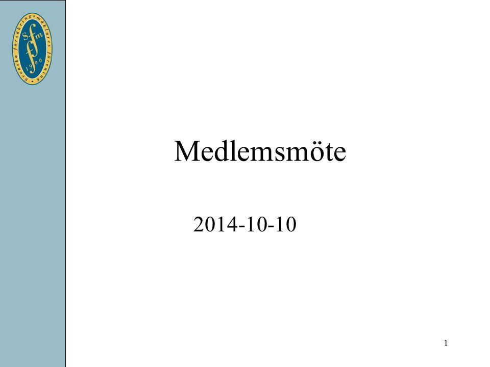 Medlemsmöte 2014-10-10 1