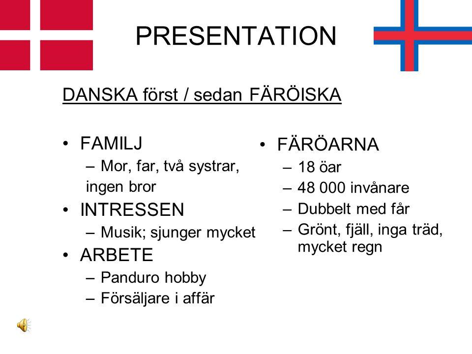 FÄRÖISKA & DANSKA intalat av Birgit Nónklett