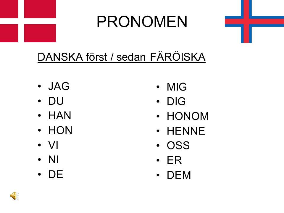 PRESENTATION DANSKA först / sedan FÄRÖISKA FAMILJ –Mor, far, två systrar, ingen bror INTRESSEN –Musik; sjunger mycket ARBETE –Panduro hobby –Försäljar