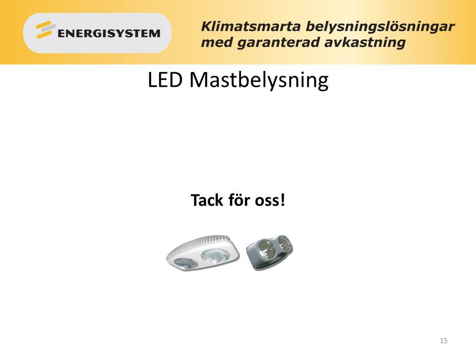 15 LED Mastbelysning Tack för oss!