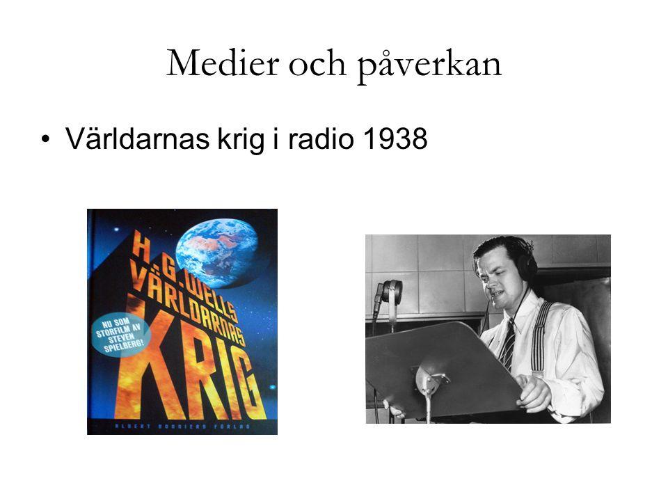 Medier och påverkan Världarnas krig i radio 1938