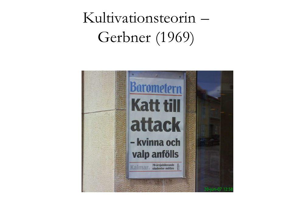 Kultivationsteorin – Gerbner (1969)