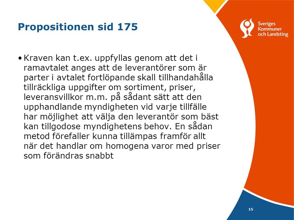 15 Propositionen sid 175 Kraven kan t.ex.