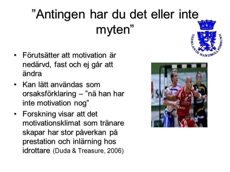 """""""Antingen har du det eller inte myten"""" Förutsätter att motivation är nedärvd, fast och ej går att ändraFörutsätter att motivation är nedärvd, fast och"""
