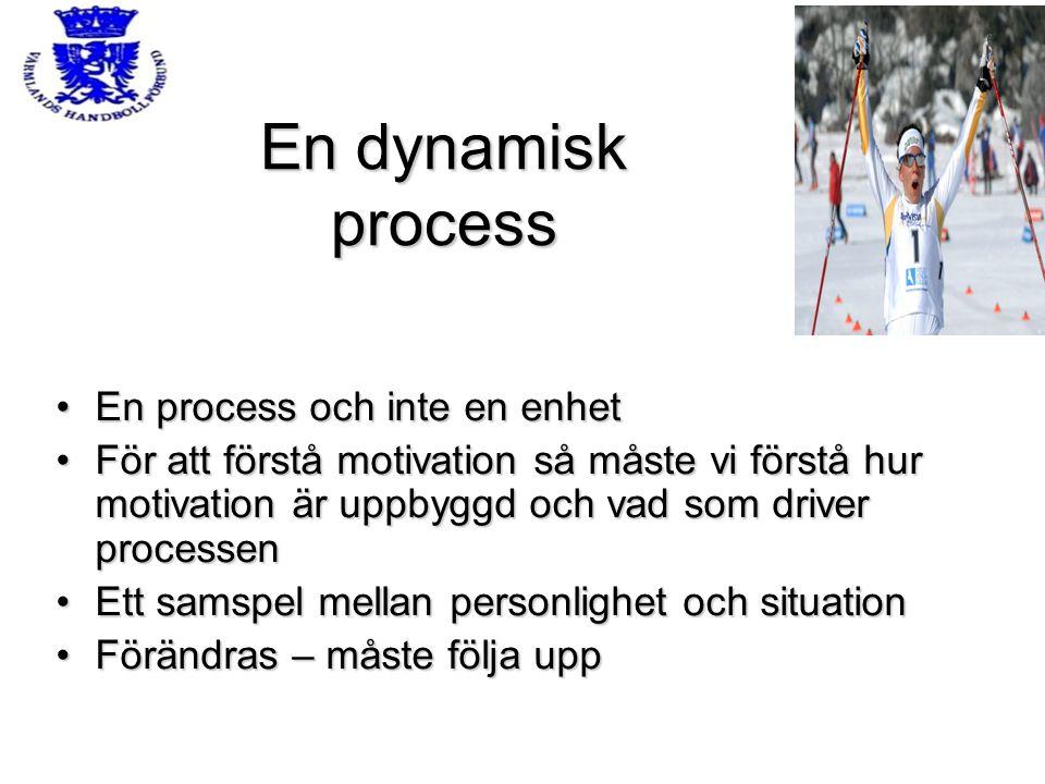 En dynamisk process En process och inte en enhetEn process och inte en enhet För att förstå motivation så måste vi förstå hur motivation är uppbyggd o