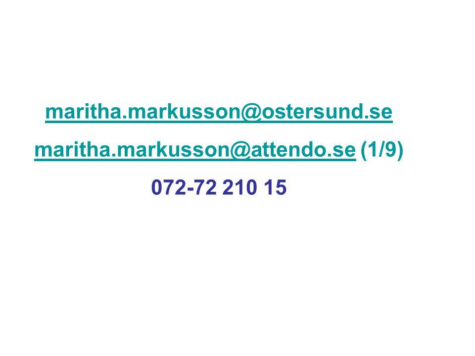 maritha.markusson@ostersund.se maritha.markusson@attendo.semaritha.markusson@attendo.se (1/9) 072-72 210 15