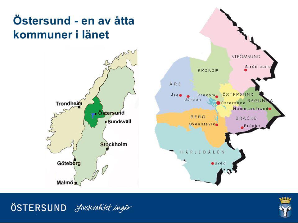 Östersunds kommun Areal: 2 517 km 2 varav 2 222 km 2 land och 295 km 2 vatten