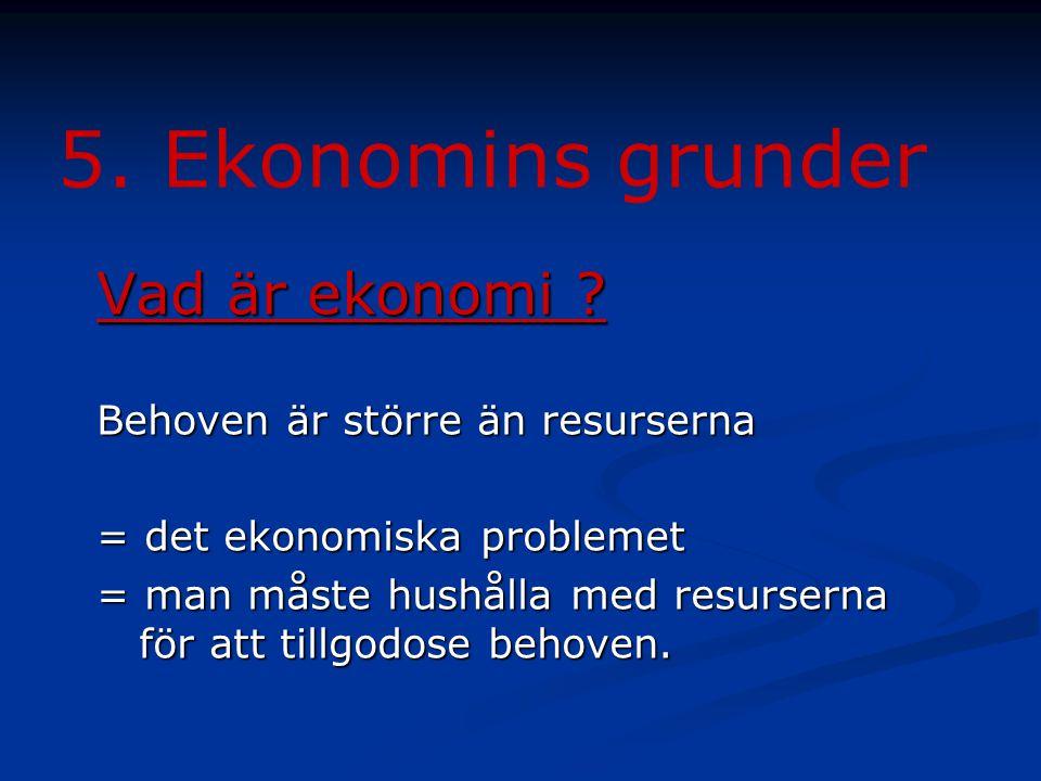 5.Ekonomins grunder Vad är ekonomi .