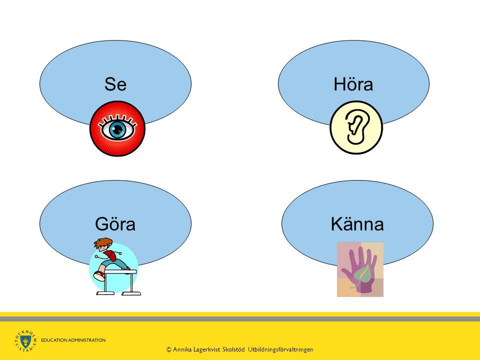 SeKännaHöra Göra © Annika Lagerkvist Skolstöd Utbildningsförvaltningen