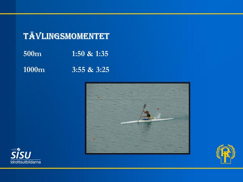 Tävlingsmomentet 500m 1:50 & 1:35 1000m3:55 & 3:25