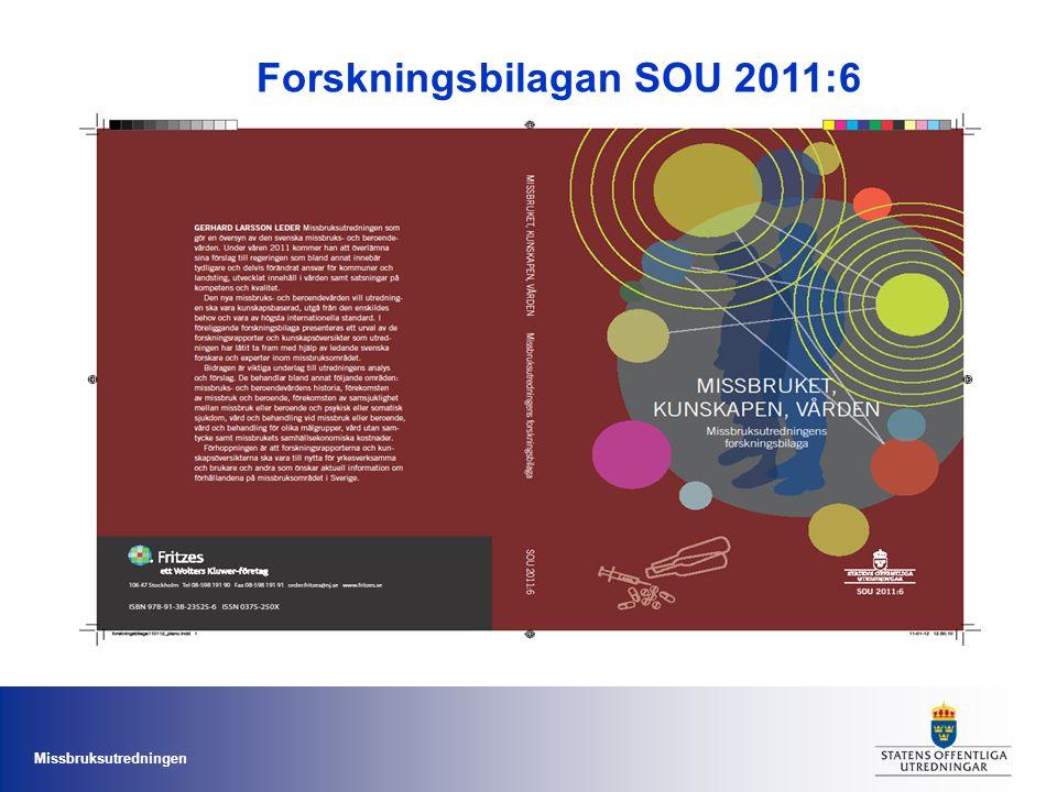 Missbruksutredningen Forskningsbilagan SOU 2011:6