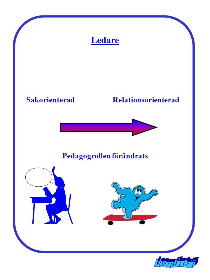 Ledare Pedagogrollen förändrats SakorienteradRelationsorienterad